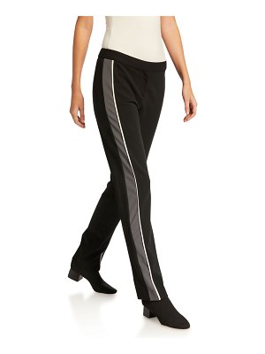 Derek Lam Hanne Slim Fit Leggings with Tuxedo Stripe