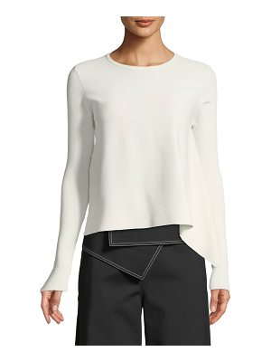 Derek Lam Long-Sleeve Crewneck Pullover Sweater