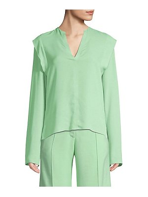 Derek Lam long sleeve ruffle silk blouse