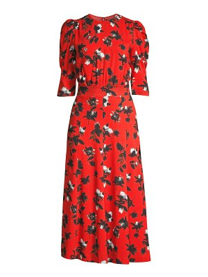 Derek Lam puff-sleeve floral midi dress