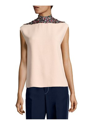 Derek Lam Silk Beaded Top