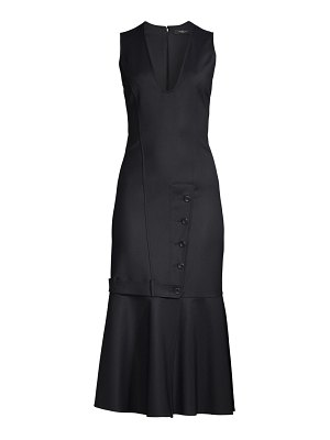 Derek Lam tailored ruffle sheath dress