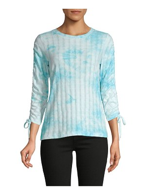 Design History Ruched Tie-Dyed Top