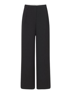 Designers Remix Albi wide recycled fabric pants w/pleats
