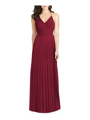 21dd498cad Dessy Collection Ruffle Back Chiffon Halter Gown in Red