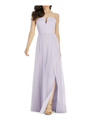 Dessy Collection Strapless Lux Chiffon A-Line Dress