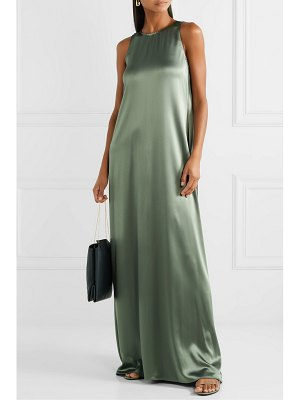 Deveaux hammered-satin gown