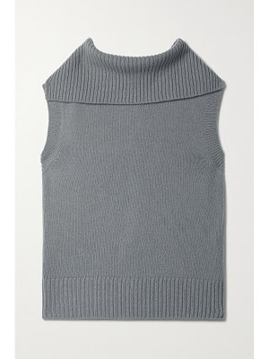 Deveaux maggie merino wool and cashmere-blend turtleneck top