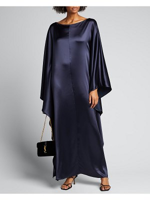Deveaux New York Astrid Satin Caftan Dress