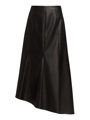 Deveaux New York tianna paneled faux leather skirt