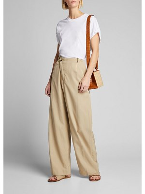 Deveaux New York Tina Asymmetric Wide-Leg Pants