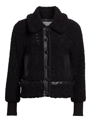 DH New York faux fur bomber jacket