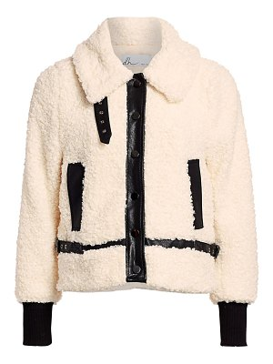 DH New York faux shearling moto jacket