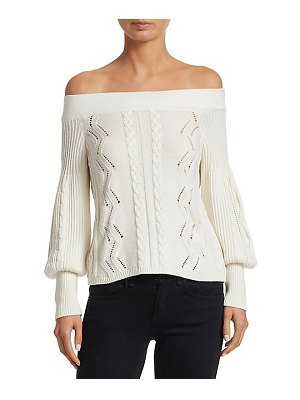 DH New York off-the-shoulder sweater
