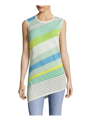 Diane von Furstenberg Asymmetrical Striped Shell