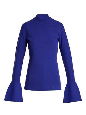 Diane von Furstenberg Bell Cuff Stretch Knit Top