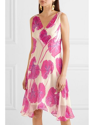 Diane von Furstenberg dita printed silk-crepon dress