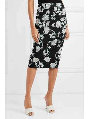 Diane von Furstenberg floral-print stretch-cady pencil skirt