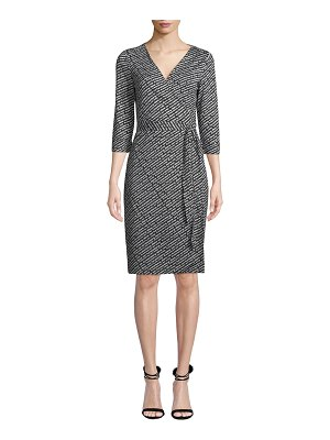 Diane von Furstenberg Julian Silk Jersey Logo Wrap Dress