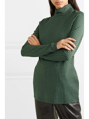 Diane von Furstenberg kasen stretch-jacquard turtleneck top