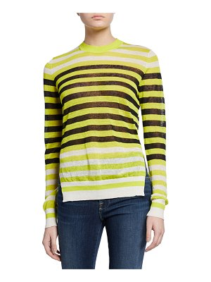 Diane von Furstenberg Kayla Striped Crewneck Sweater