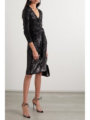 Diane von Furstenberg melina belted sequined chiffon dress