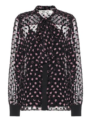 Diane von Furstenberg minnie silk-blend devoré blouse