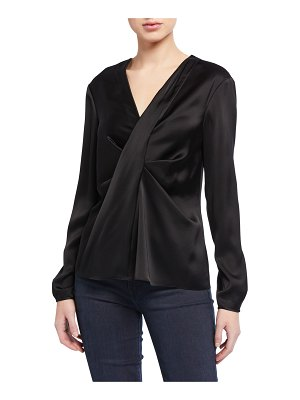 Diane von Furstenberg Muriel Draped Long-Sleeve Blouse