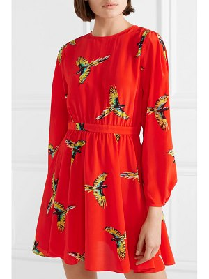 Diane von Furstenberg printed silk crepe de chine mini dress