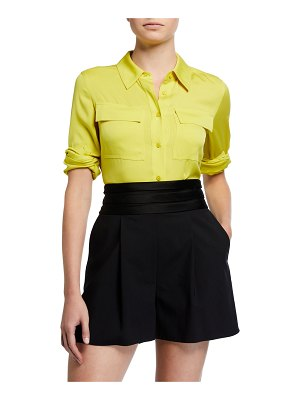 Diane von Furstenberg Samson Silk Button-Down Blouse