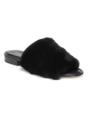 Diane von Furstenberg Santi Leather & Shearling Slides