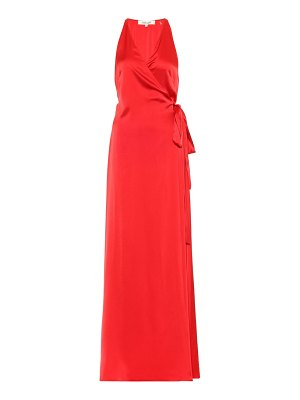 Diane von Furstenberg Satin wrap maxi dress