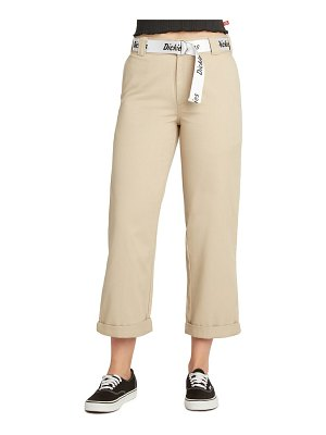 DICKIES belted roll cuff work pants