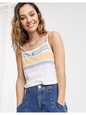 Dickies Girl crop top with stripes-white