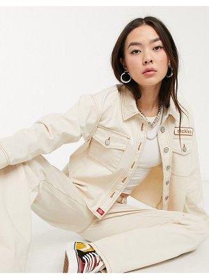 Dickies Girl worker jacket with contrast stitching two-piece-beige