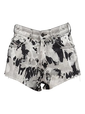 Diesel De-higwei printed cotton denim shorts