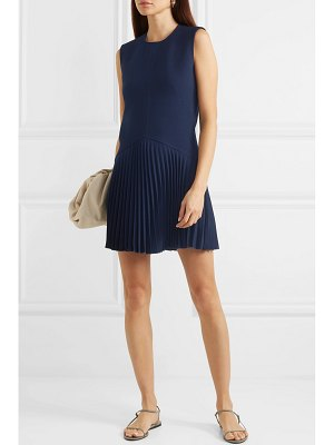 Dion Lee annex pleated bonded stretch-crepe mini dress
