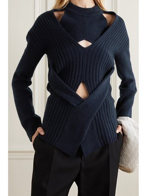 Dion Lee cutout wool and cashmere-blend sweater