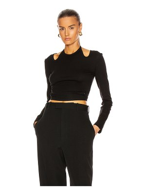Dion Lee double tie jersey long sleeve top