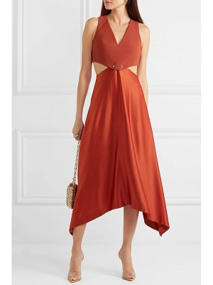 Dion Lee embellished cutout cady and satin dress