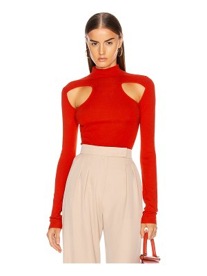 Dion Lee merino cut out skivvy top