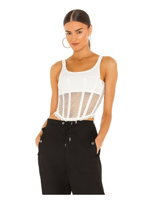 Dion Lee net lace suspended corset top