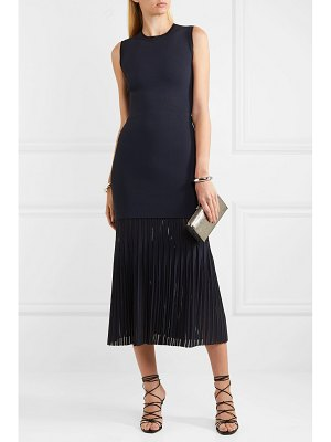 Dion Lee pleated bonded stretch-crepe midi dress