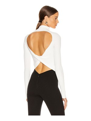 Dion Lee twist back long sleeve sweater