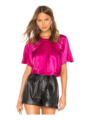 Divine Heritage Cropped Cape Blouse