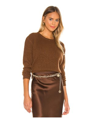 Divine Heritage cropped cashmere sweater