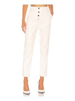 Divine Heritage vegan leather high waisted pant