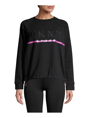 DKNY Sport Embroidered Logo Stretch-Cotton Sweatshirt