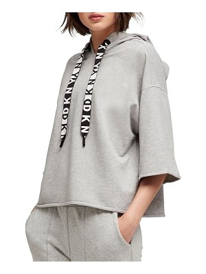 DKNY Sport Stretch-Cotton Hooded Top