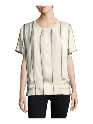 DKNY Striped Short Sleeve Top